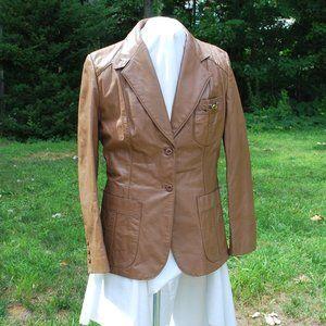 Vintage Etienne Aigner Equestrian Leather Jacket